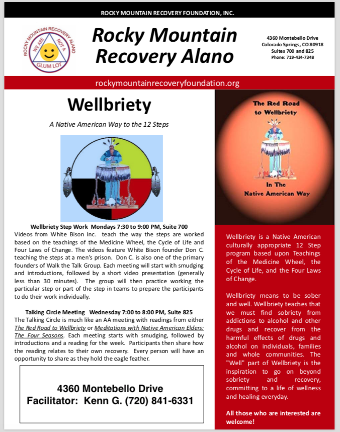 Wellbriety poster copy
