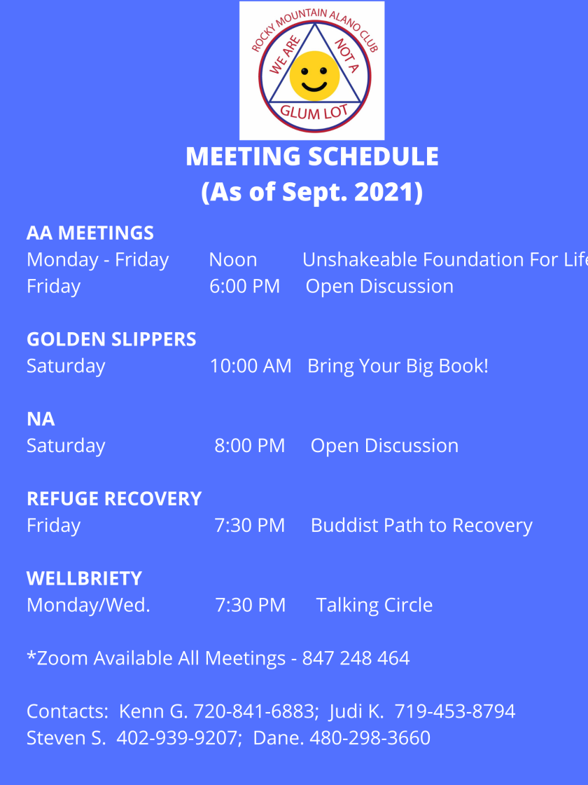 meeting schedule pic